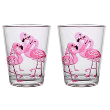Load image into Gallery viewer, Gourmet Art 2-Piece Flamingo Acrylic DOF Tumbler 16 oz.