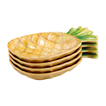 "Load image into Gallery viewer, Gourmet Art 4-Piece Pineapple Melamine 7"" Plate"
