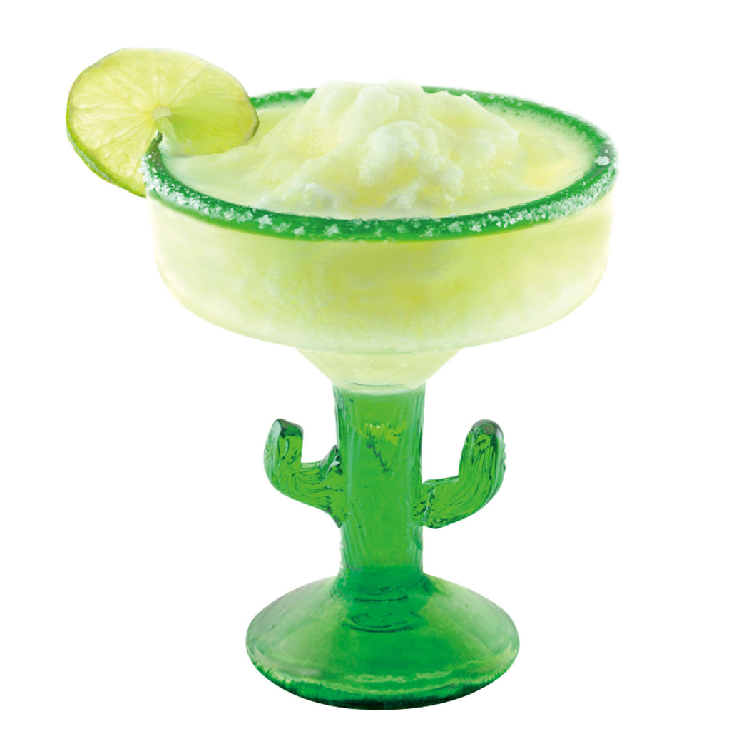 Gourmet Art 2-Piece Cactus Acrylic 18 oz. Margarita Glass