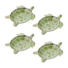 "Load image into Gallery viewer, Gourmet Art 4-Piece Turtle Melamine 7 1/2"" Plate"