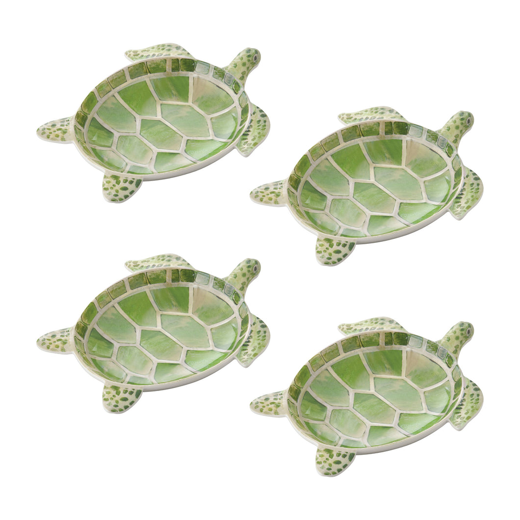 Gourmet Art 4-Piece Turtle Melamine 7 1/2