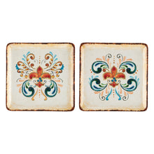 "Load image into Gallery viewer, Gourmet Art 4-Piece Tuscany Melamine 5 3/4"" Plate"