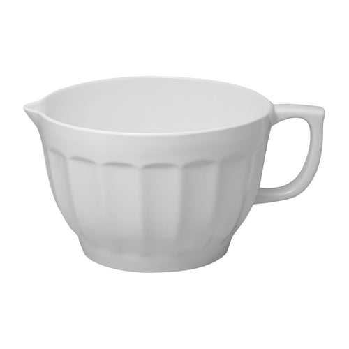 Gourmet Art Latte Melamine 4.3 qt. Batter Bowl, White