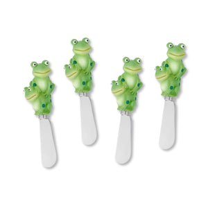 Mr. Spreader 4-Piece Frogs Resin Cheese Spreader