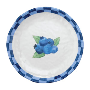 "Gourmet Art 4-Piece Blueberry Melamine 6"" Plate"