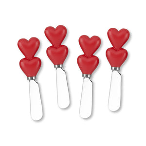 Mr. Spreader 4-Piece Heart Resin Cheese Spreader