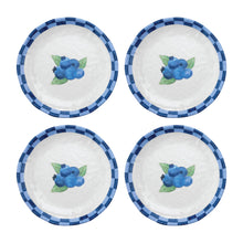 "Load image into Gallery viewer, Gourmet Art 4-Piece Blueberry Melamine 6"" Plate"