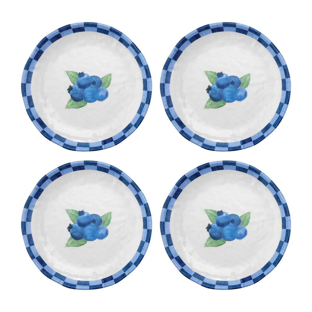 Gourmet Art 4-Piece Blueberry Melamine 6