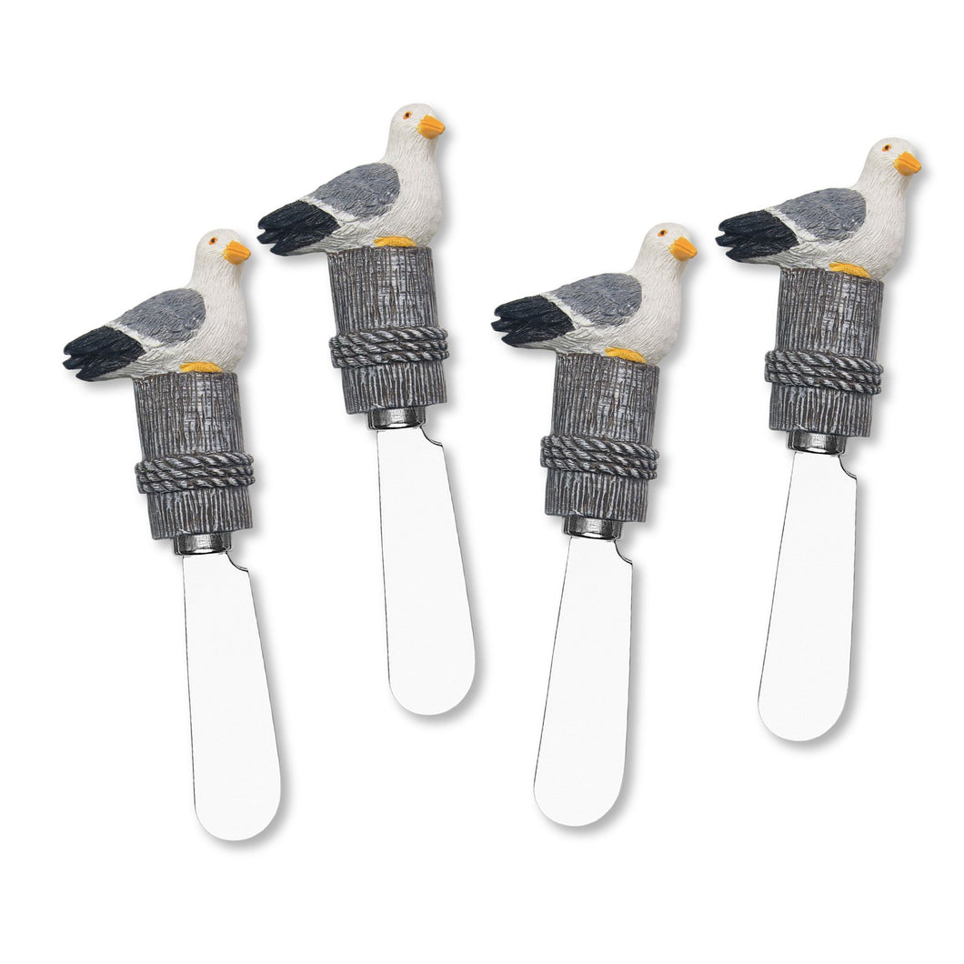 Mr. Spreader 4-Piece Seagull Resin Cheese Spreader