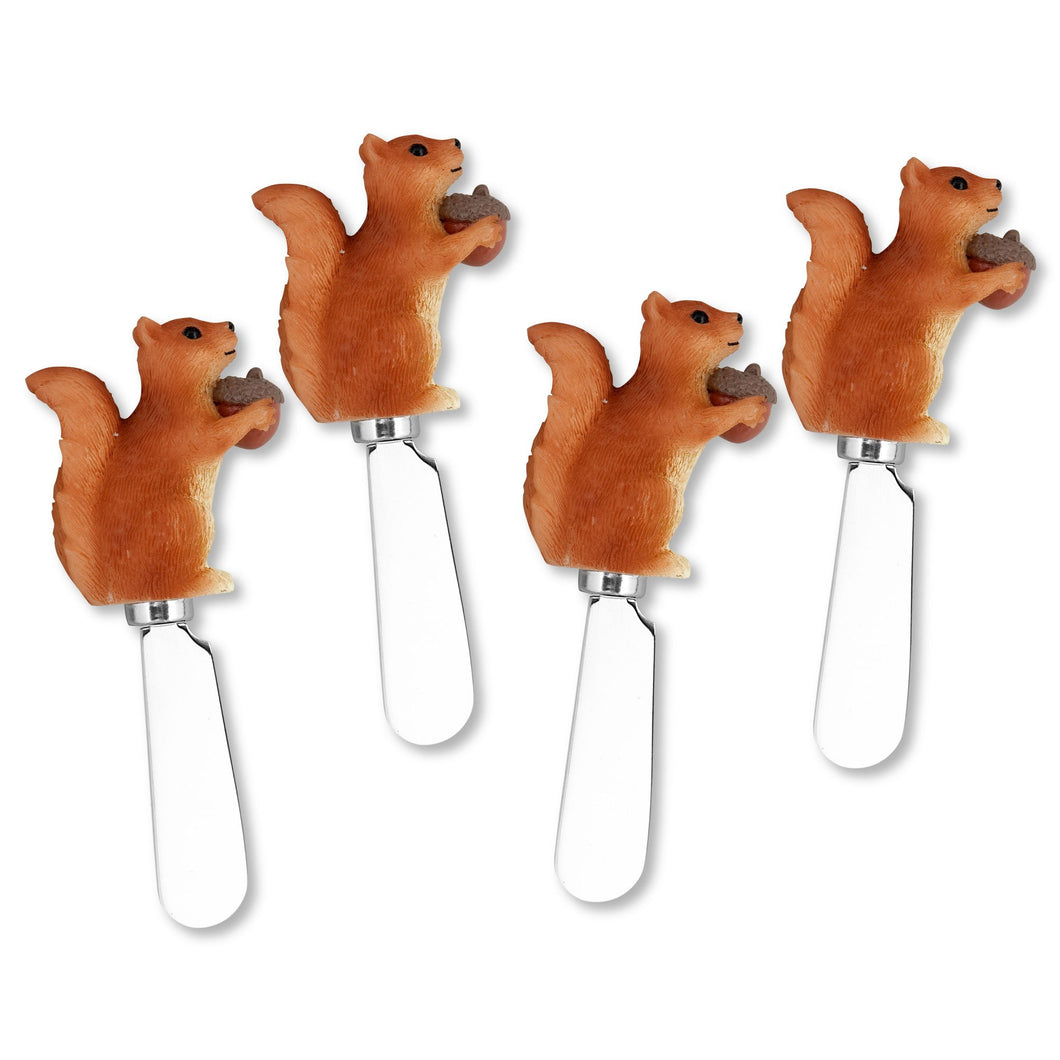 Mr. Spreader 4-Piece Squirrel Resin Cheese Spreader