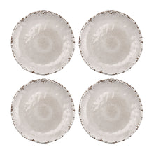 "Load image into Gallery viewer, Gourmet Art 4-Piece Crackle Melamine 6"" Plate, Cream"