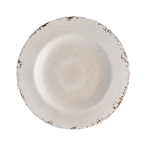 "Gourmet Art 6-Piece Crackle Melamine 8 3/4"" Plate, Cream"