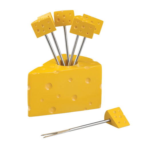Gourmet Art 6-Piece Cheese Cocktail Pick with Holder