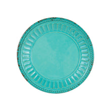 "Load image into Gallery viewer, Gourmet Art 4-Piece Chateau Melamine 6"" Plate, Turquoise"
