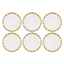 "Load image into Gallery viewer, Gourmet Art 6-Piece Bamboo Melamine 9"" Plate"