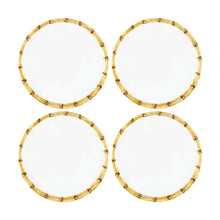 "Load image into Gallery viewer, Gourmet Art 4-Piece Bamboo Melamine 6"" Plate"