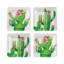 "Load image into Gallery viewer, Gourmet Art 4-Piece Cactus Melamine 6 1/8"" Plate"
