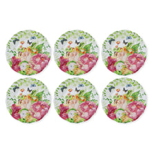 "Load image into Gallery viewer, Gourmet Art 6-Piece Rose Garden Melamine 8 3/4"" Plate"
