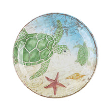 "Load image into Gallery viewer, Gourmet Art 6-Piece Sealife Turtle Melamine 9"" Plate"
