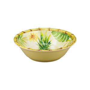 "Gourmet Art 6-Piece Bamboo Pineapple Melamine 7 1/2"" Bowl"