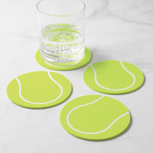 Gourmet Art 4-Piece Tennis Silicone Coaster
