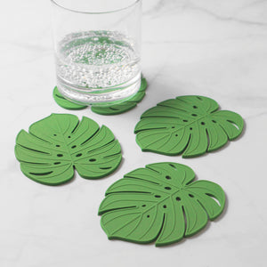 Gourmet Art 4-Piece Monstera Silicone Coaster
