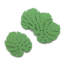 Load image into Gallery viewer, Gourmet Art 4-Piece Monstera Silicone Coaster