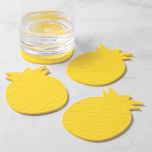 Load image into Gallery viewer, Gourmet Art 4-Piece Pineapple Silicone Coaster