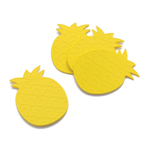 Gourmet Art 4-Piece Pineapple Silicone Coaster