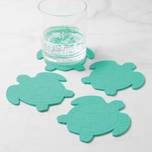 Load image into Gallery viewer, Gourmet Art 4-Piece Turtle Silicone Coaster