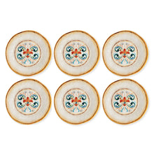 "Load image into Gallery viewer, Gourmet Art 6-Piece Tuscany Melamine 9"" Salad Plate"