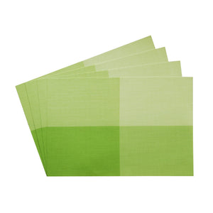 Gourmet Art 4-Piece PVC Placemat, Green Check