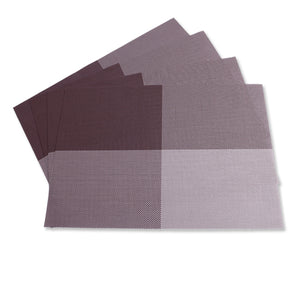 Gourmet Art 4-Piece PVC Placemat, Brown Check