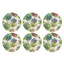 "Load image into Gallery viewer, Gourmet Art 6-Piece Succulents Melamine 8 34"" Plate"