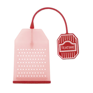 Gourmet Art Almigh-Tea Bag Silicone Tea Infuser, Red