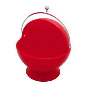 Gourmet Art Acrylic Roll Top Serving Bowl, Poppy Red