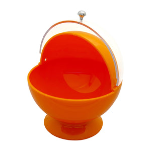 Gourmet Art Acrylic Roll Top Serving Bowl, Orange Popsicle