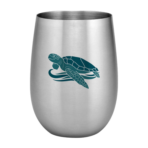 Supreme Stainless Steel Hawaiian Islands 20 oz. Stemless Wine Glass, Blue