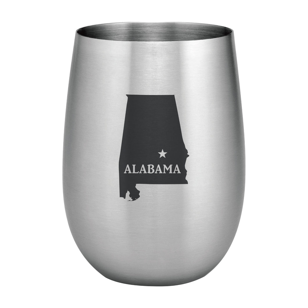 Supreme Stainless Steel Alabama 20 oz. Stemless Wine Glass