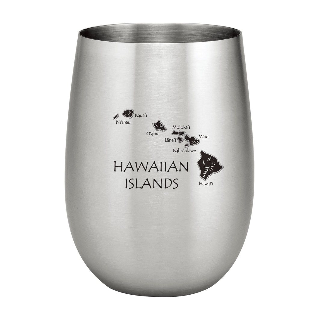 Supreme Stainless Steel Hawaii 20 oz. Stemless Wine Glass