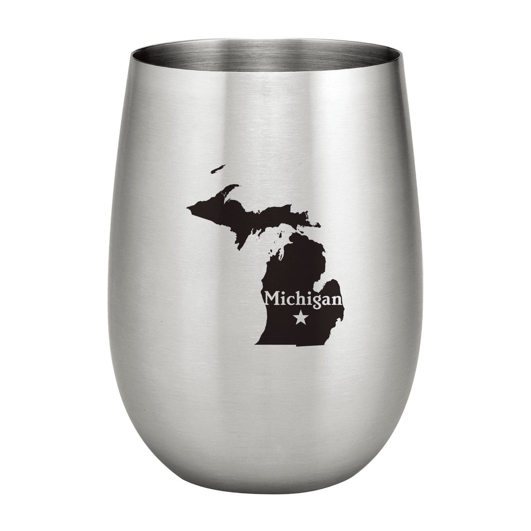 Supreme Stainless Steel Michigan 20 oz. Stemless Wine Glass