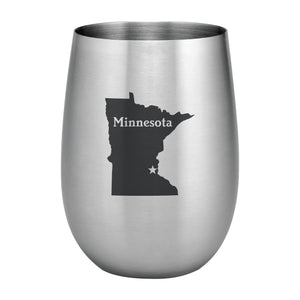 Supreme Stainless Steel Minnesota 20 oz. Stemless Wine Glass