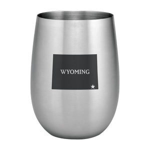 Supreme Stainless Steel Wyoming 20 oz. Stemless Wine Glass