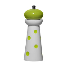 Load image into Gallery viewer, Gourmet Art 2-Piece Acrylic Pepper Mill, Green Dots