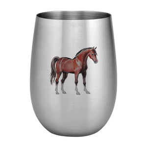 Supreme Stainless Steel Horse 20 oz. Stemless Wine Glass