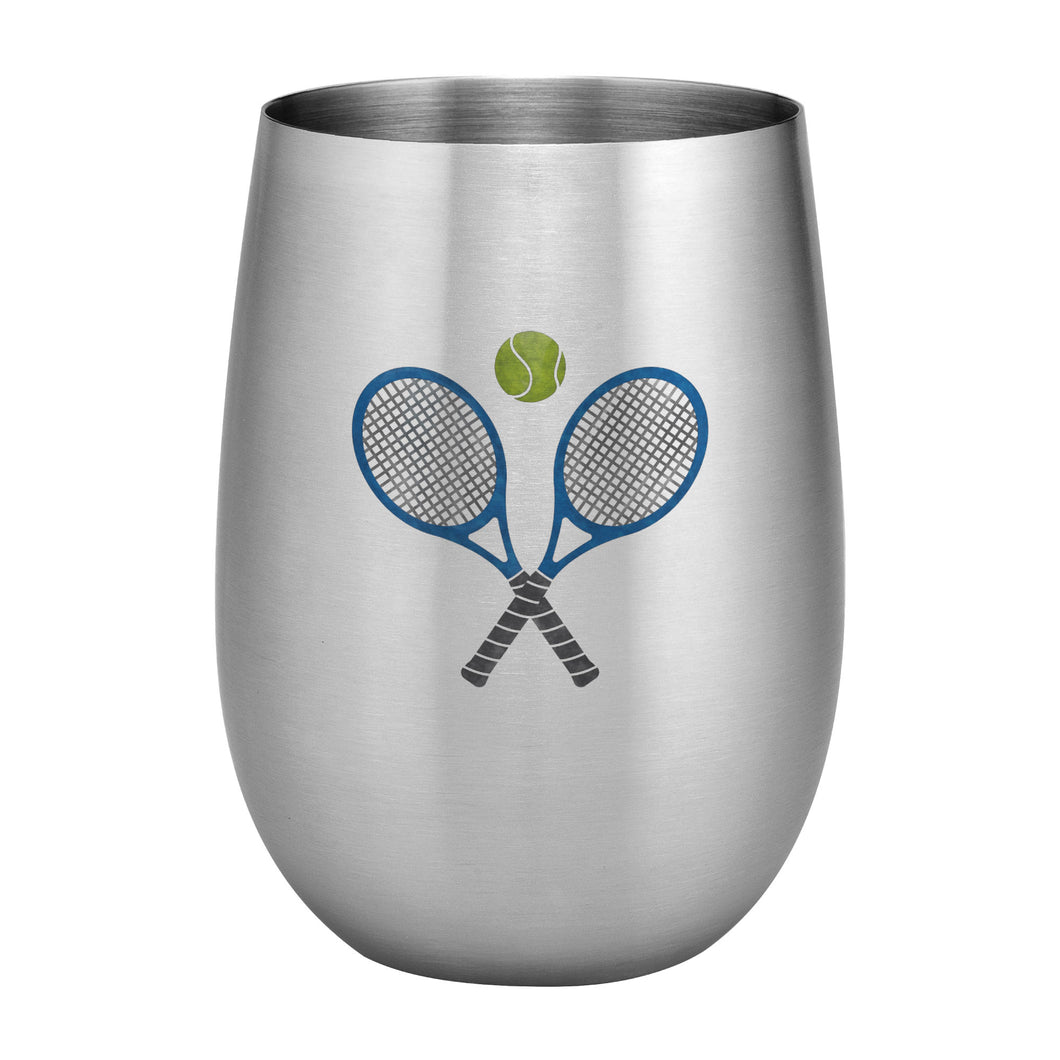 Supreme Stainless Steel Tennis 20 oz. Stemless Wine Glass
