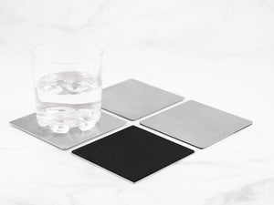 Supreme Stainless Steel 4-Piece Indiana Coaster