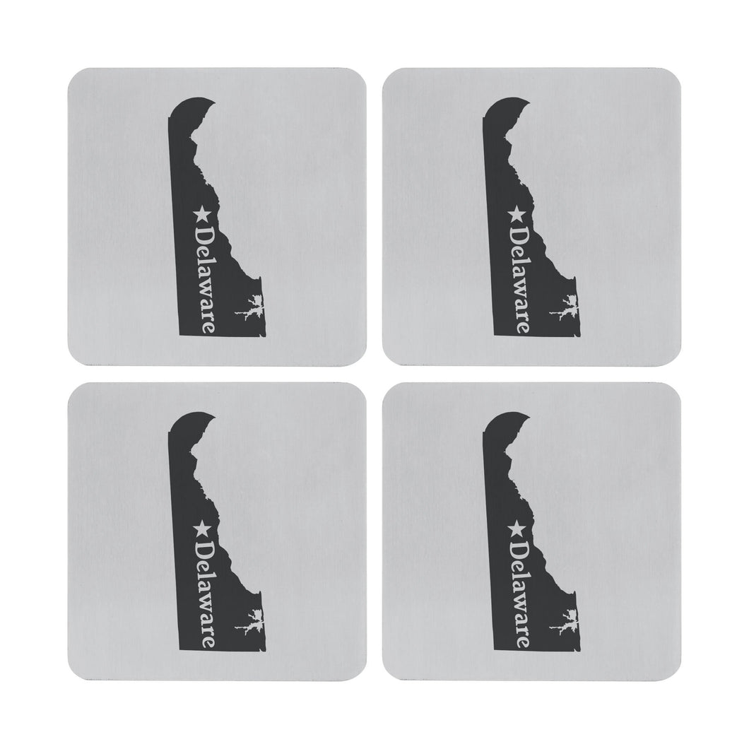 Supreme Stainless Steel 4-Piece Delaware Coaster