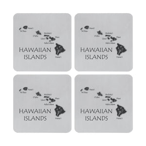 Supreme Stainless Steel 4-Piece Hawaii Coaster