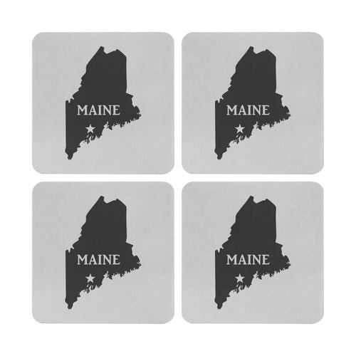 Supreme Stainless Steel 4-Piece Maine Coaster